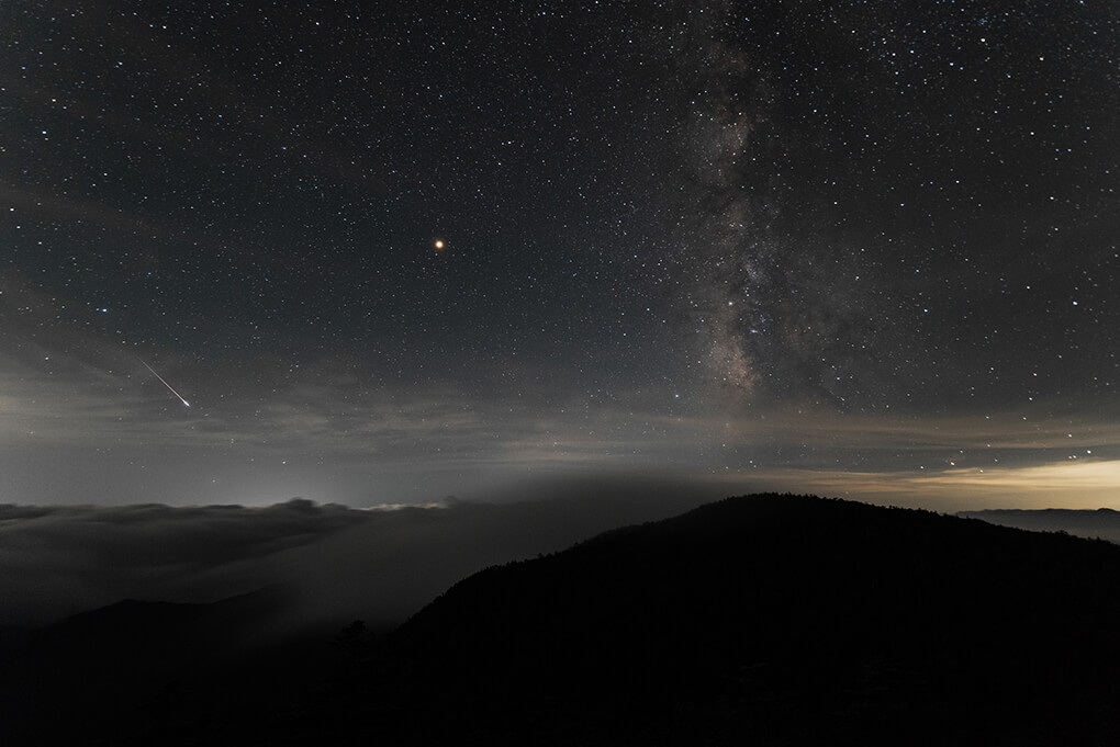 Milky Way and Shooting Star
