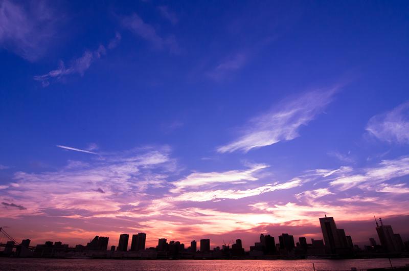 晴海埠頭からの夕景