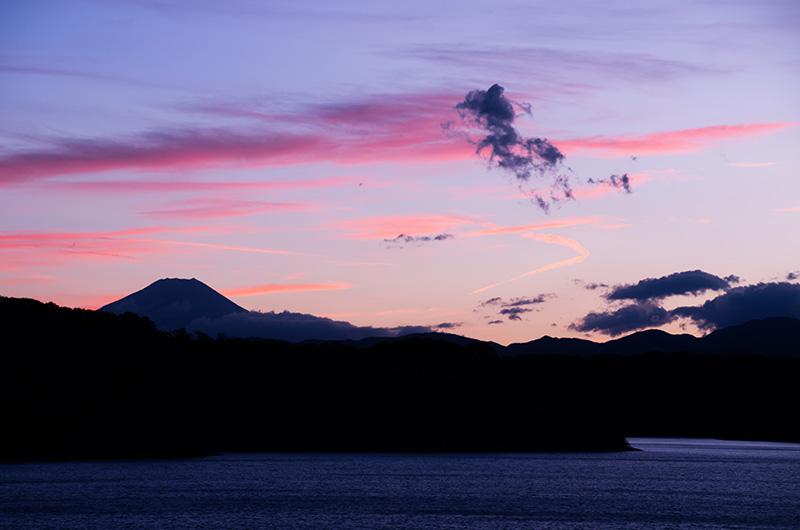 富士夕景 刻まれる時