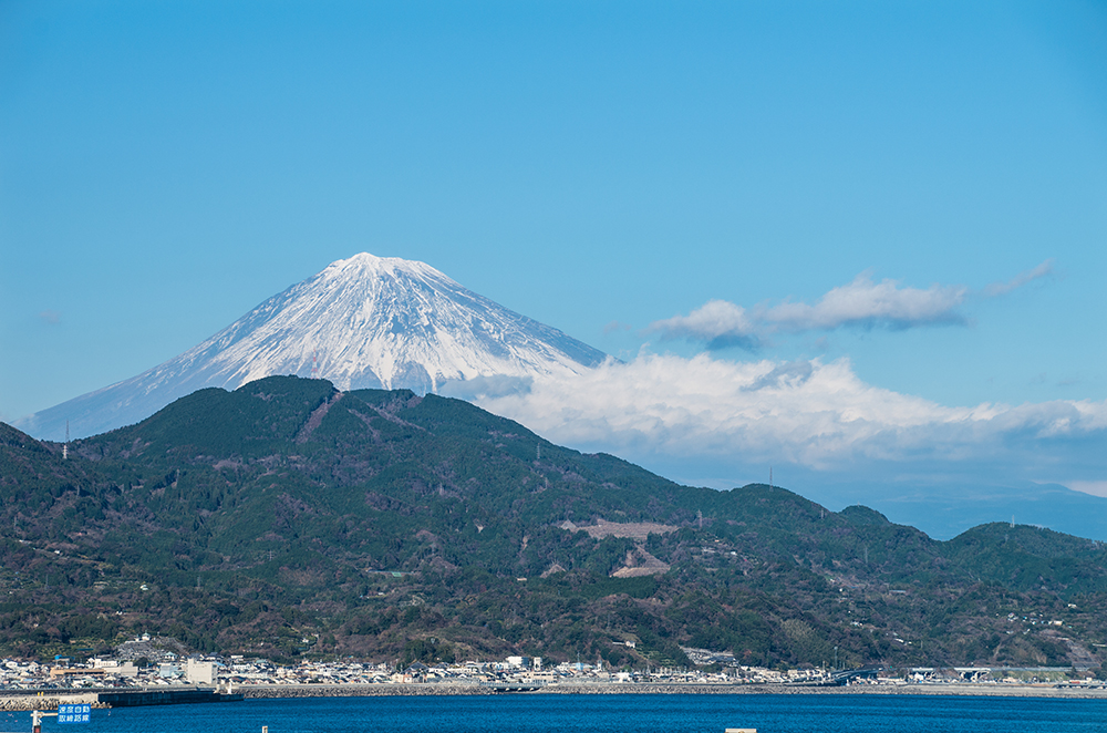 海と富士と