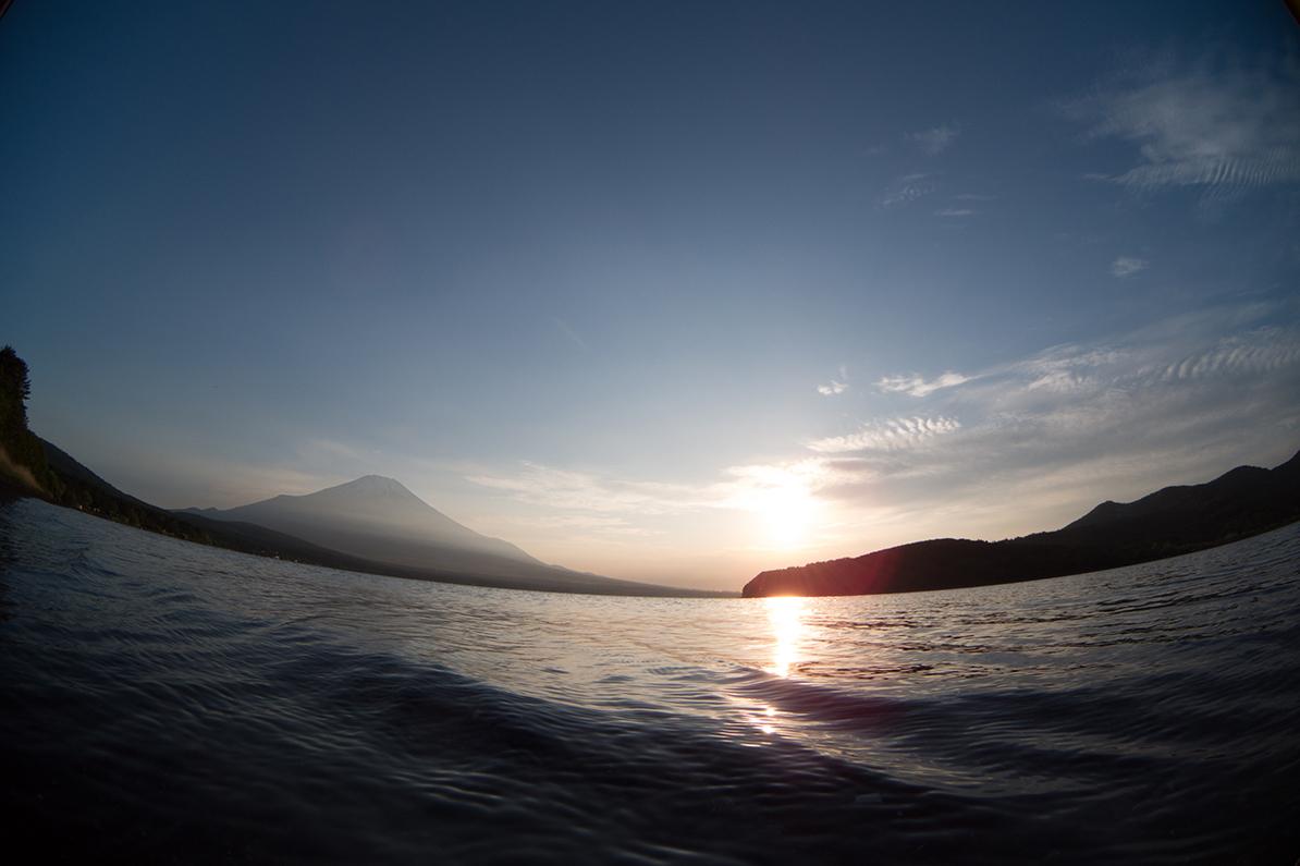 山中湖夕景 Q7 Fisheye