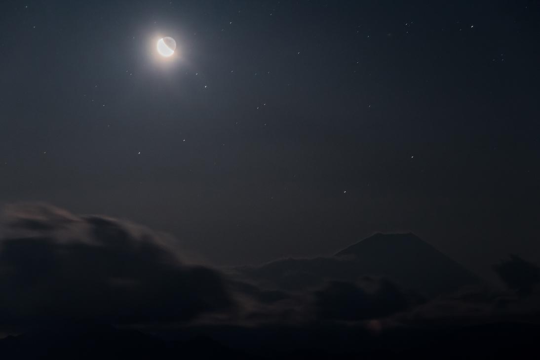 月夜の中で
