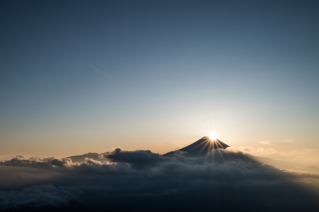 七面山ダイヤモンド富士