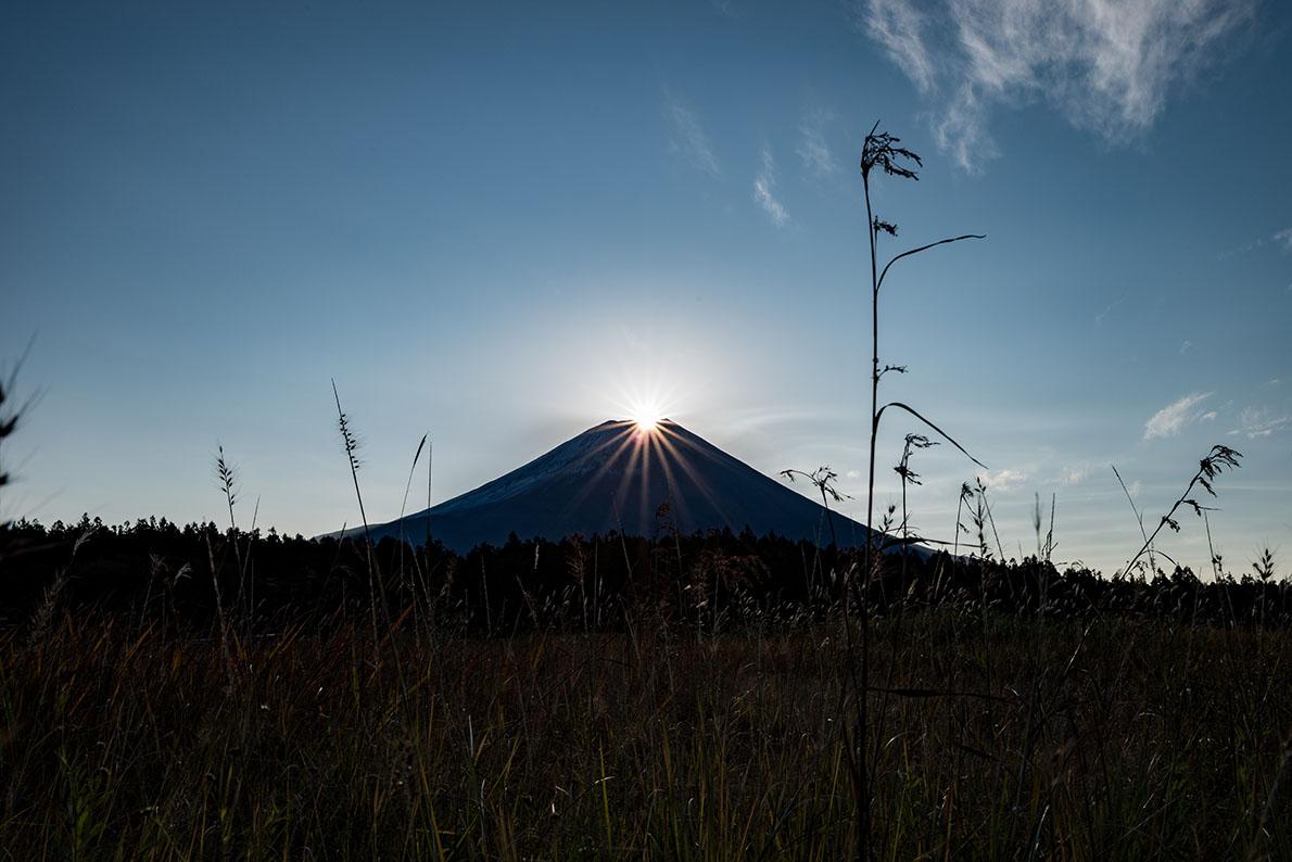 朝霧のダイヤモンド富士
