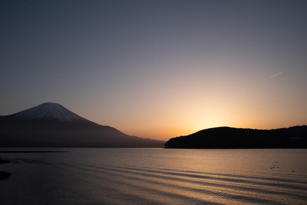山中湖夕景