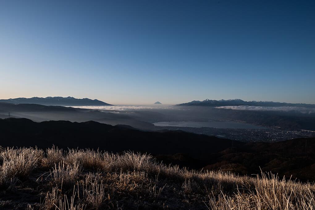 遠景富士を臨む