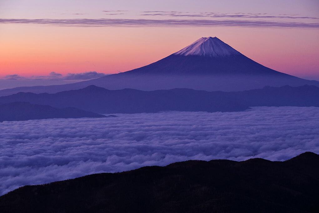 雲海に聳える