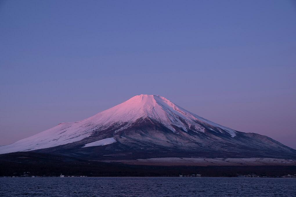 初冬の紅富士